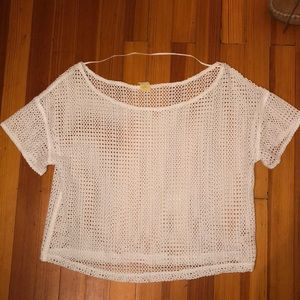 White knitted cover up